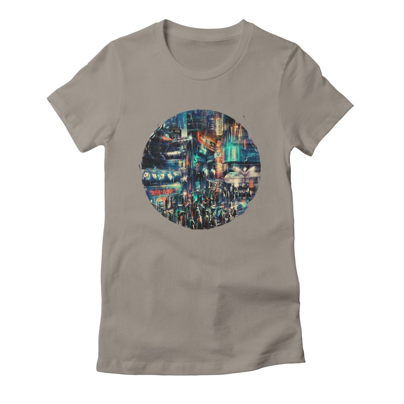 Chinatown Women's Fitted T-Shirt by MB's Tees