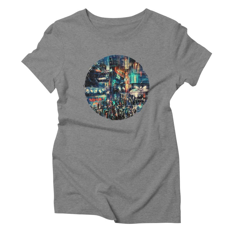 Chinatown Women's Triblend T-Shirt by MB's Tees