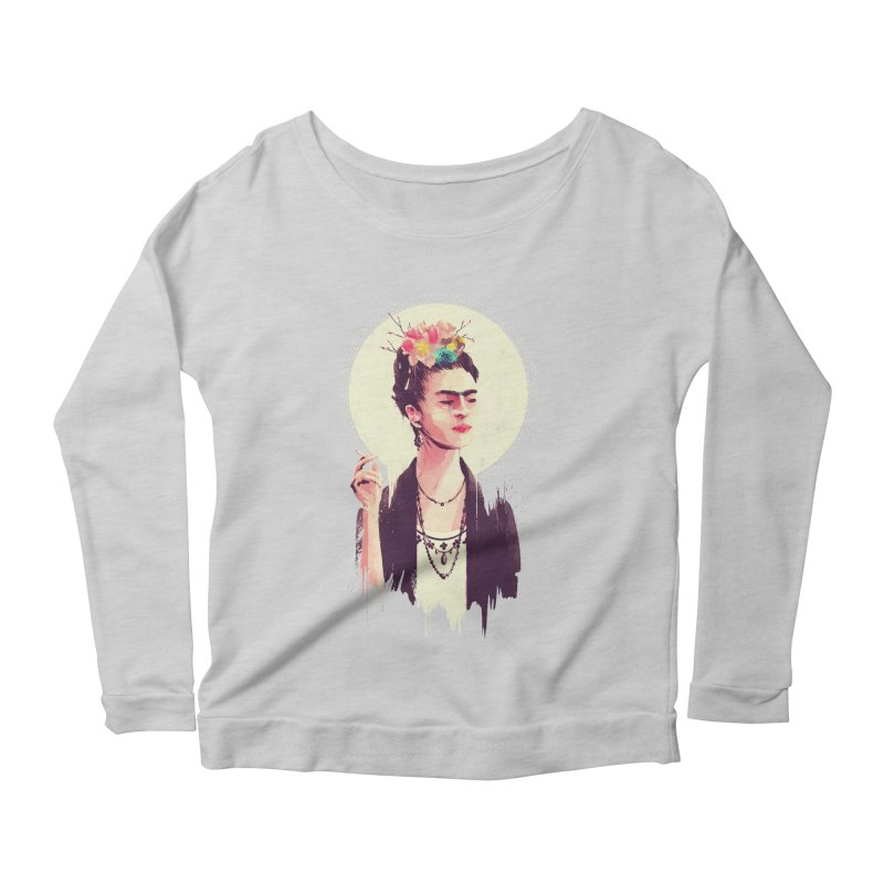 Thank god it's Frida Women's Scoop Neck Longsleeve T-Shirt by MB's Tees