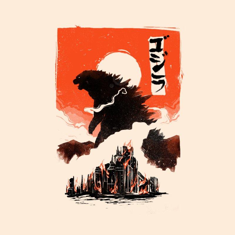 Godzilla None  by MB's Tees