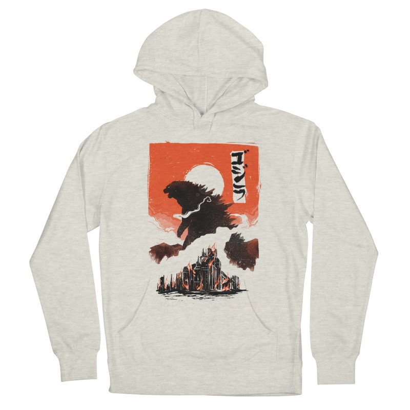 Godzilla Men's French Terry Pullover Hoody by MB's Tees