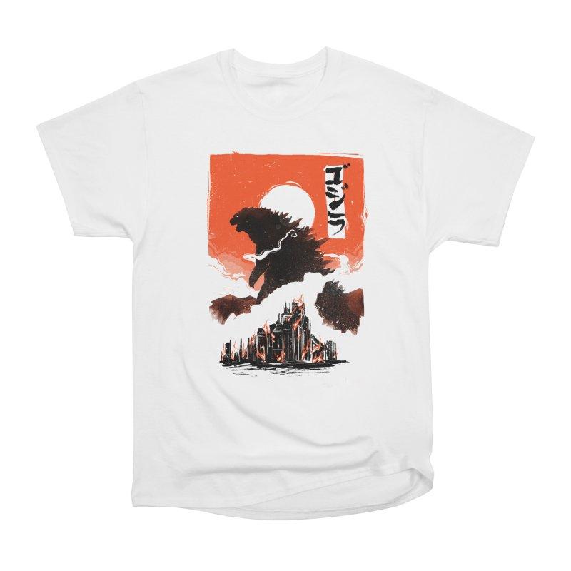 Godzilla Men's Heavyweight T-Shirt by MB's Tees