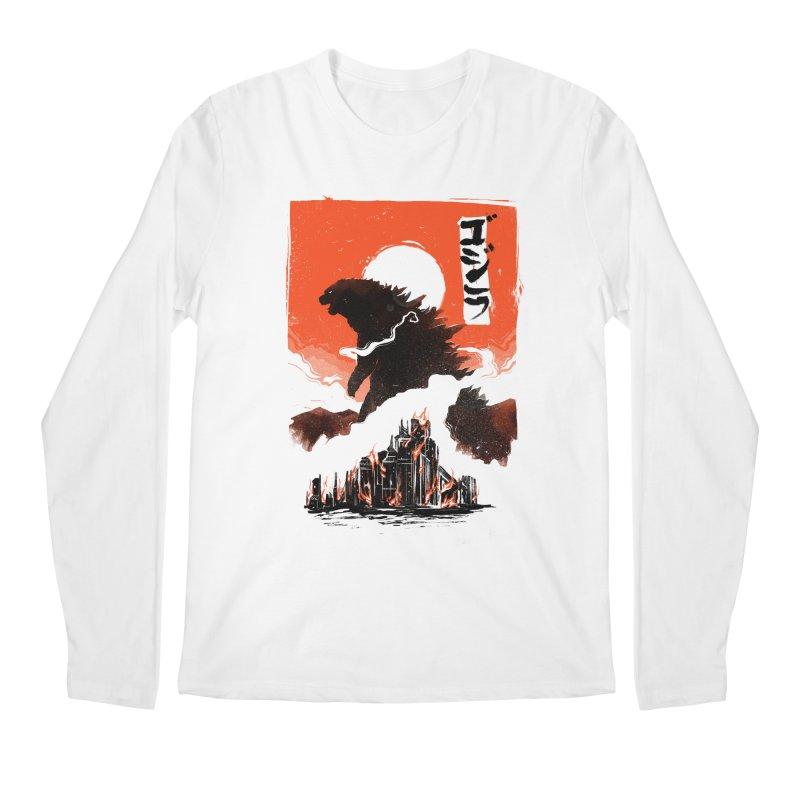 Godzilla Men's Regular Longsleeve T-Shirt by MB's Tees
