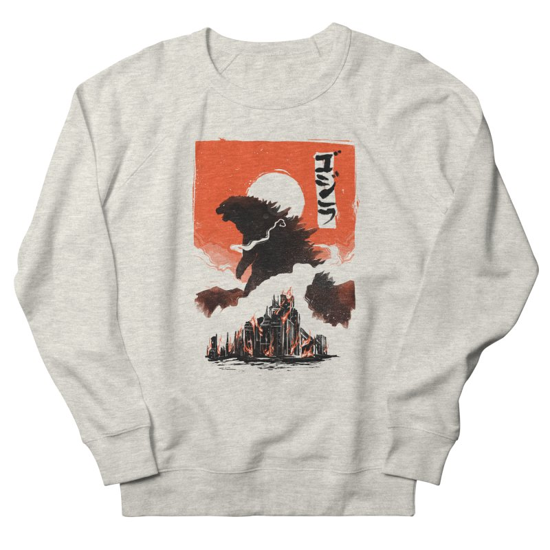 Godzilla Men's French Terry Sweatshirt by MB's Tees