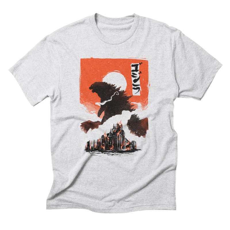 Godzilla Men's Triblend T-Shirt by MB's Tees
