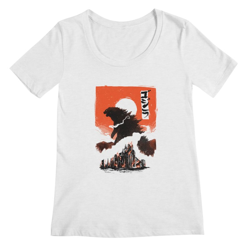 Godzilla Women's Regular Scoop Neck by MB's Collection