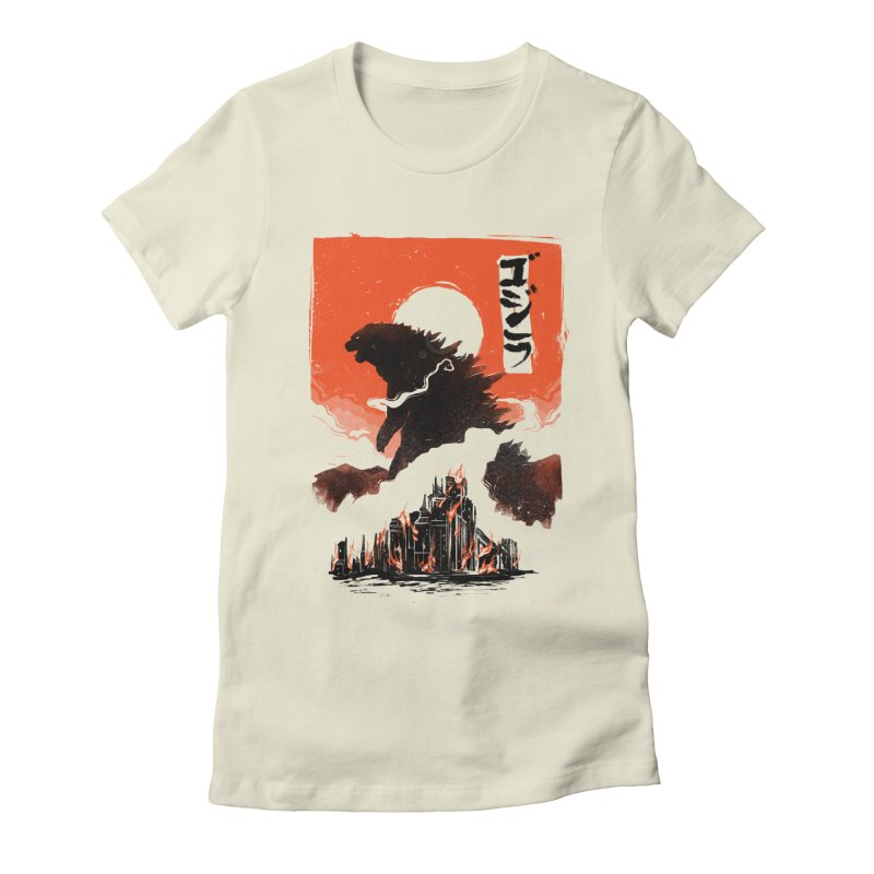 Godzilla Women's Fitted T-Shirt by MB's Tees