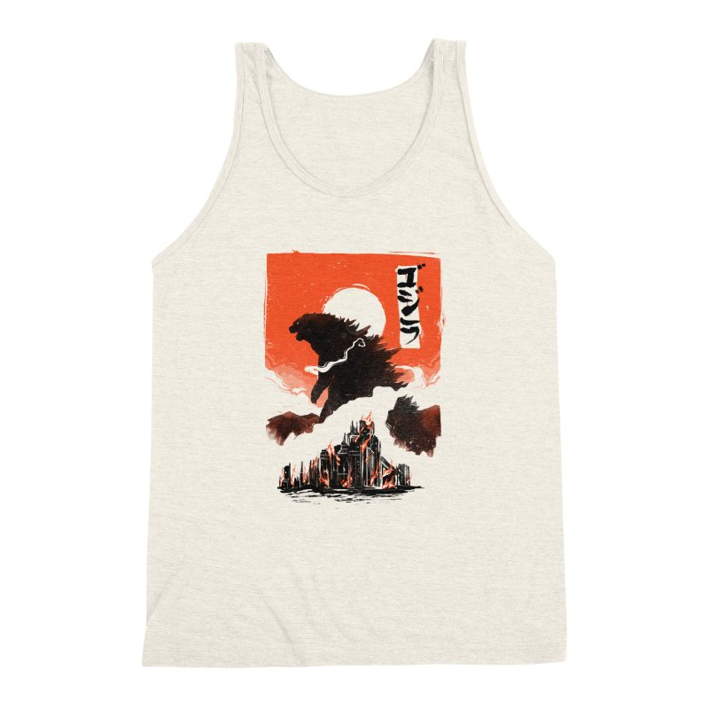 Godzilla Men's Triblend Tank by MB's Tees