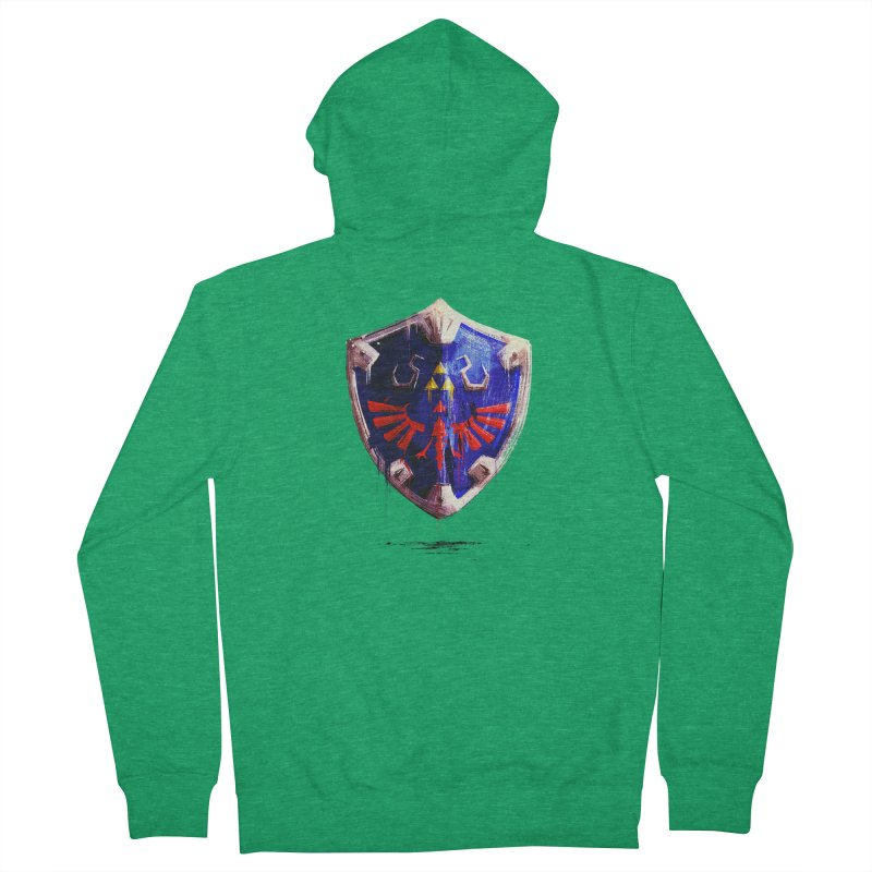 Shield Men's French Terry Zip-Up Hoody by MB's Tees
