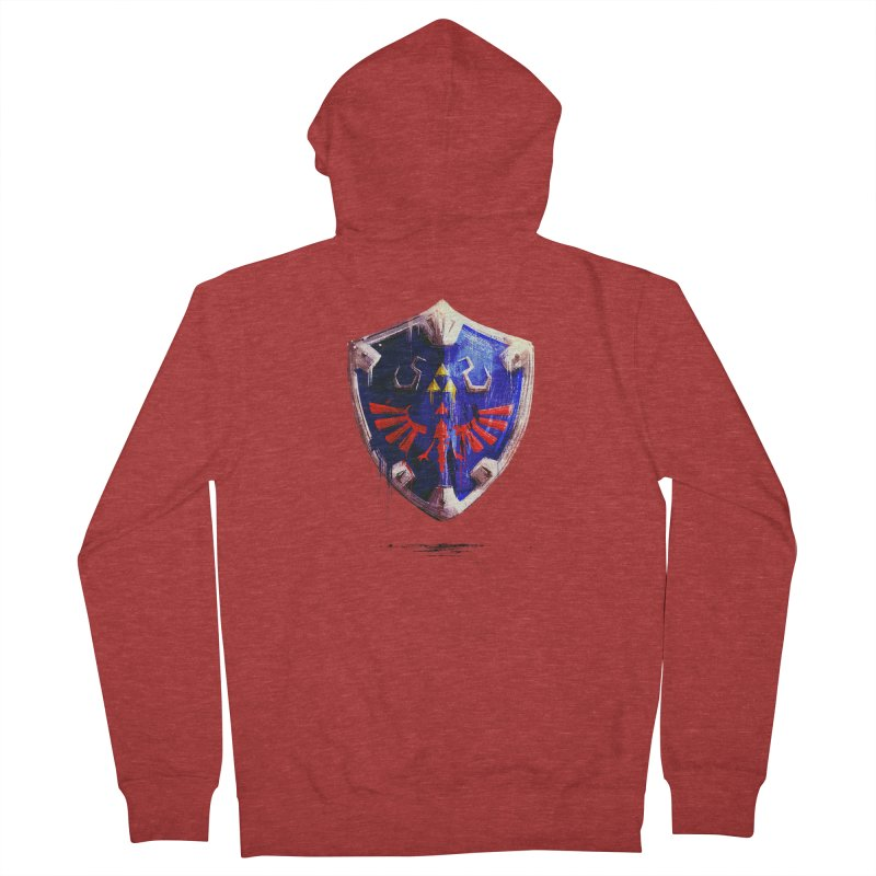 Shield Men's French Terry Zip-Up Hoody by MB's Collection