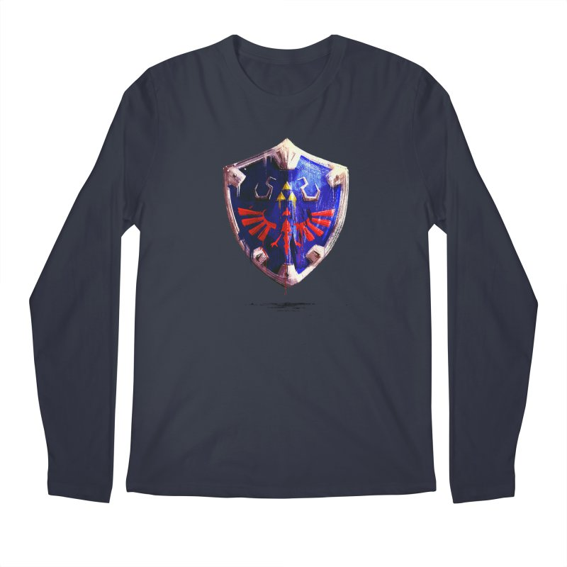 Shield Men's Regular Longsleeve T-Shirt by MB's Collection