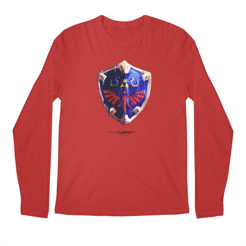 Shield Men's Regular Longsleeve T-Shirt by MB's Tees