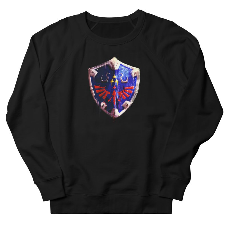 Shield Men's French Terry Sweatshirt by MB's Tees
