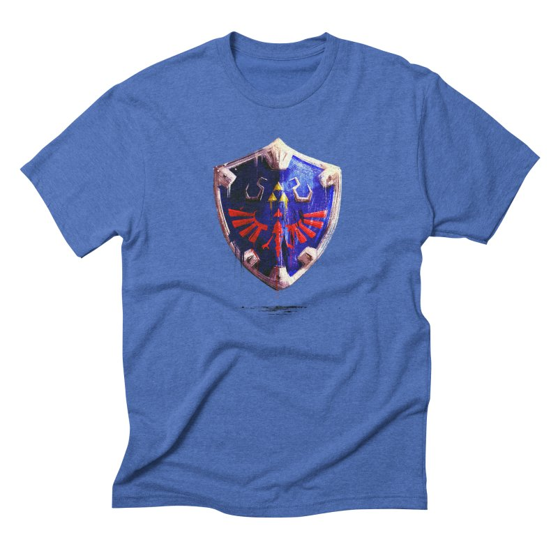 Shield Men's Triblend T-Shirt by MB's Tees