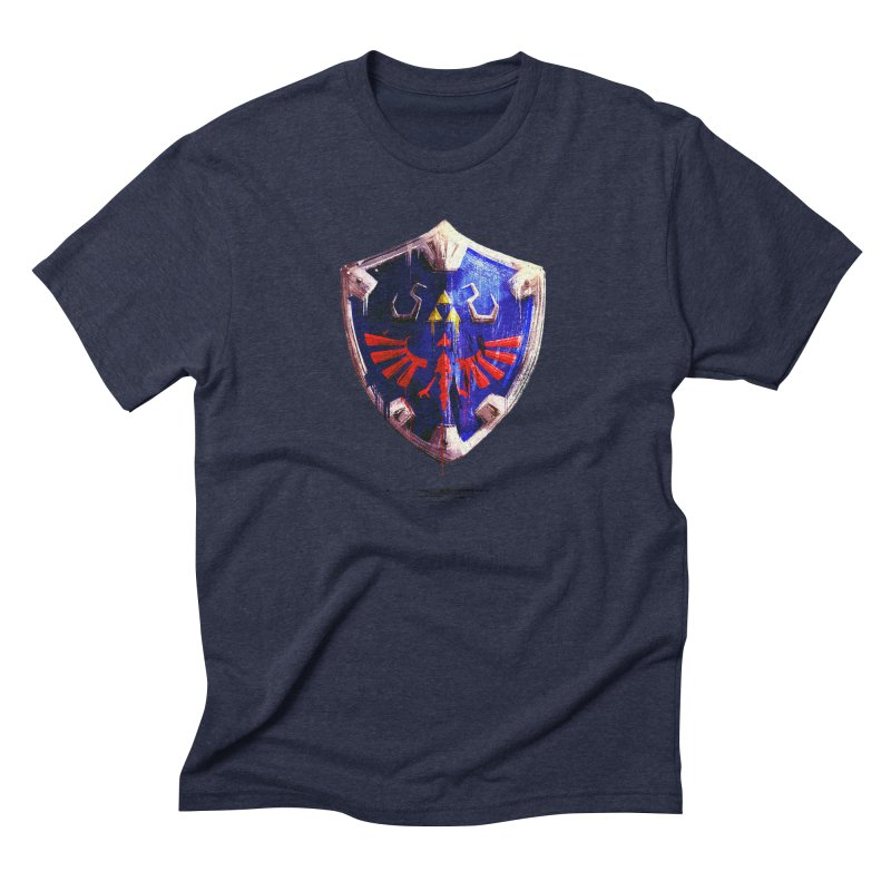 Shield Men's Triblend T-Shirt by MB's Tees