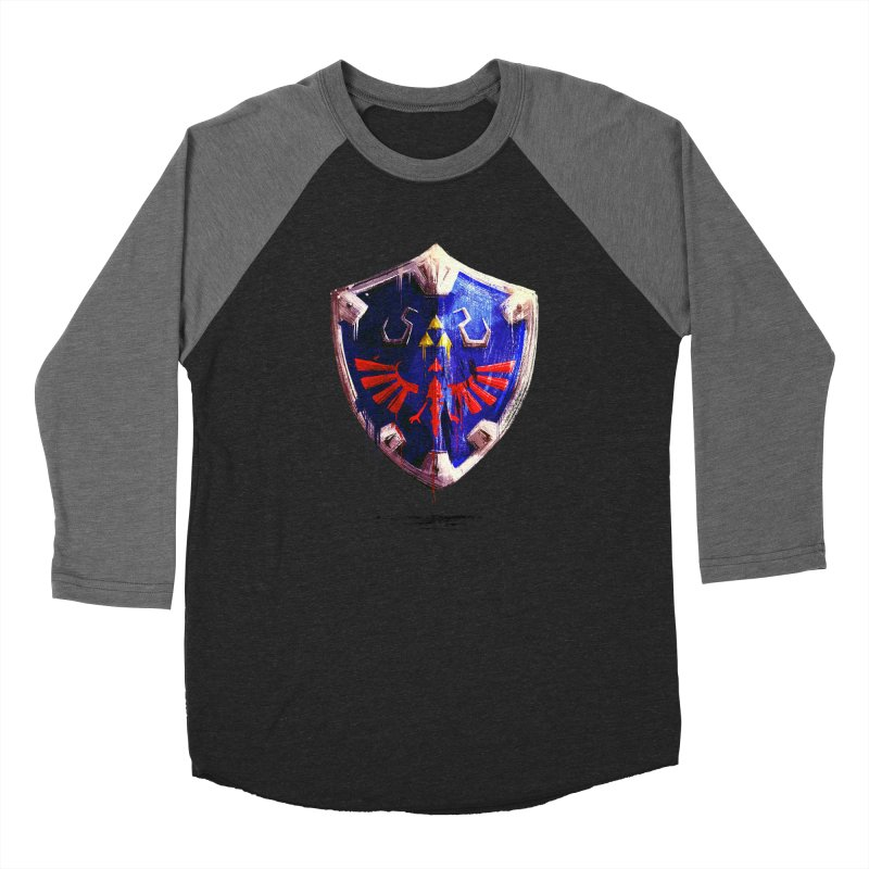 Shield Women's Baseball Triblend Longsleeve T-Shirt by MB's Collection