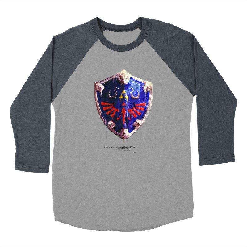Shield Women's Baseball Triblend Longsleeve T-Shirt by MB's Tees