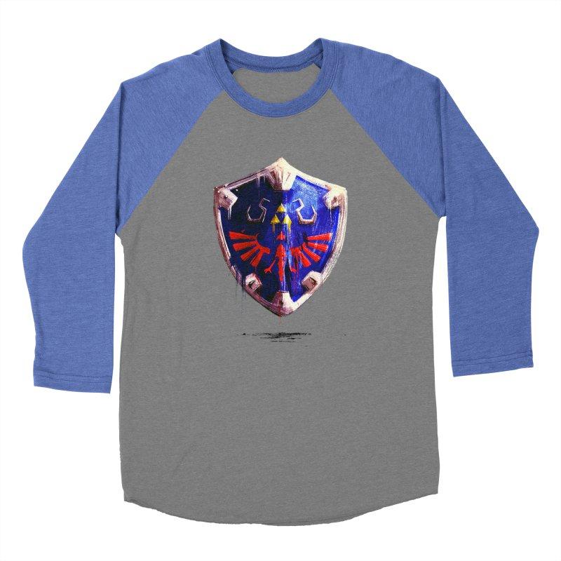 Shield Men's Baseball Triblend Longsleeve T-Shirt by MB's Tees