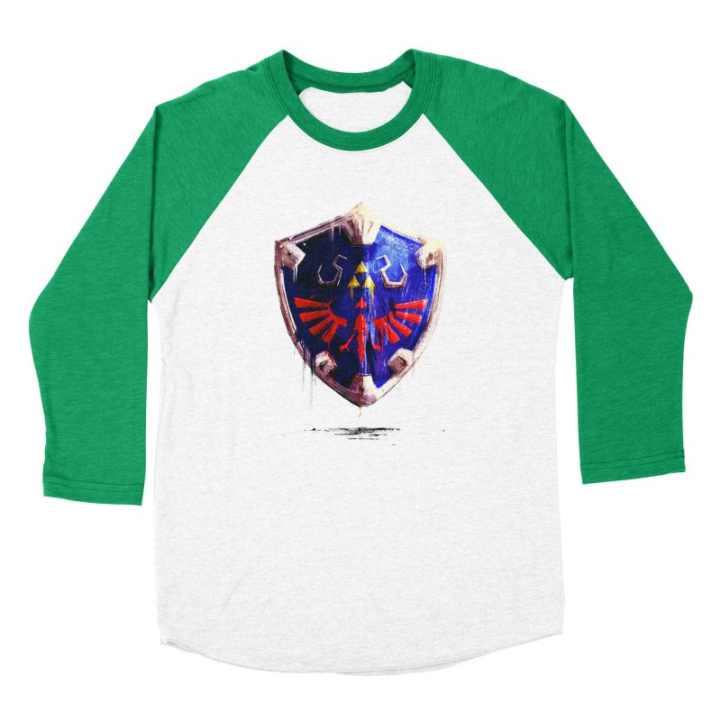 Shield Men's Baseball Triblend Longsleeve T-Shirt by MB's Tees