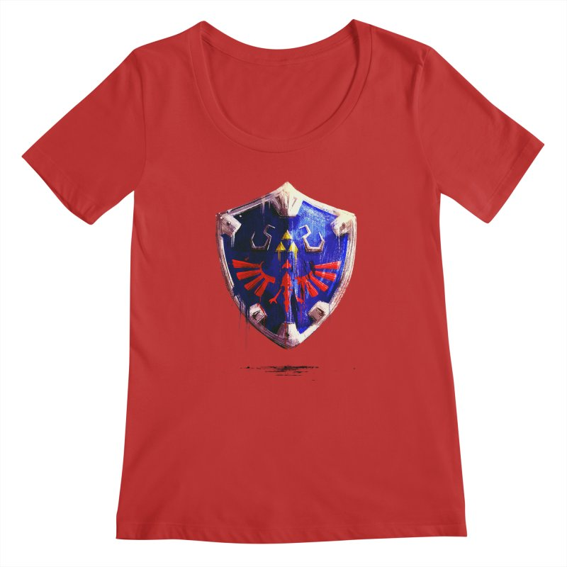 Shield Women's Regular Scoop Neck by MB's Collection