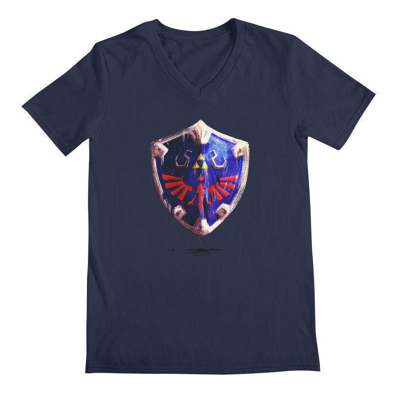 Shield Men's Regular V-Neck by MB's Collection