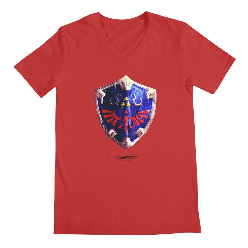 Shield Men's Regular V-Neck by MB's Collection