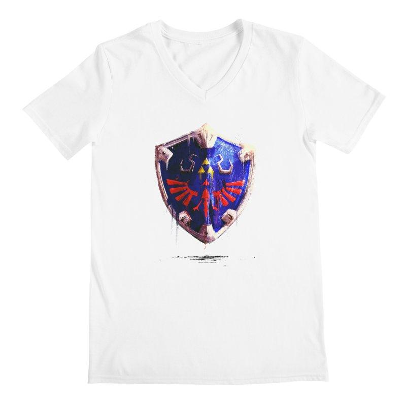 Shield Men's Regular V-Neck by MB's Tees