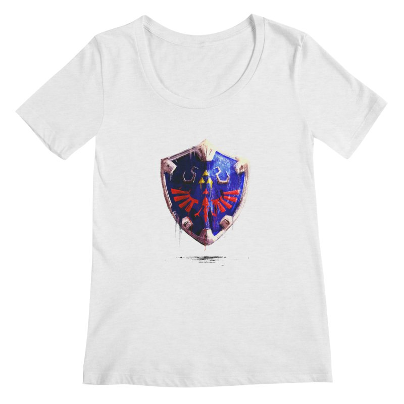 Shield Women's Scoop Neck by MB's Tees