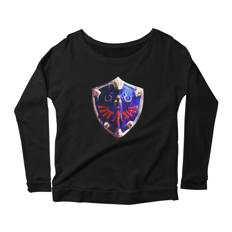 Shield Women's Scoop Neck Longsleeve T-Shirt by MB's Collection