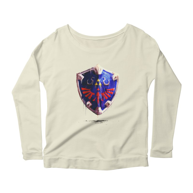 Shield Women's Scoop Neck Longsleeve T-Shirt by MB's Tees