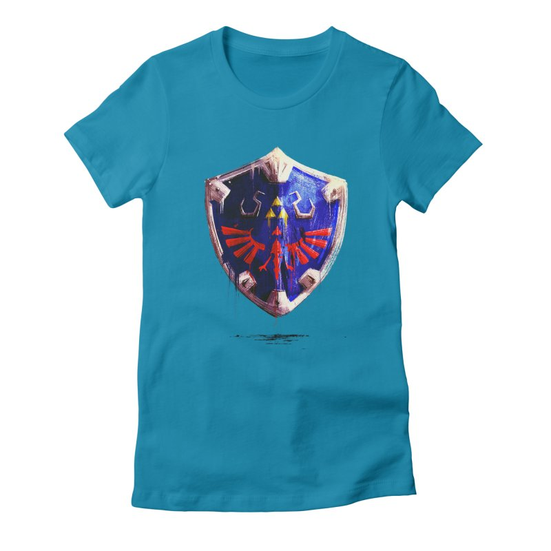 Shield Women's Fitted T-Shirt by MB's Tees