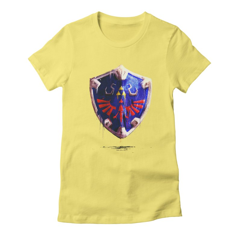 Shield Women's Fitted T-Shirt by MB's Collection