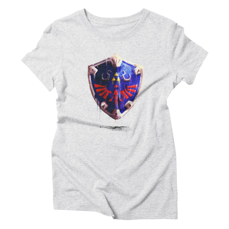 Shield Women's Triblend T-Shirt by MB's Tees
