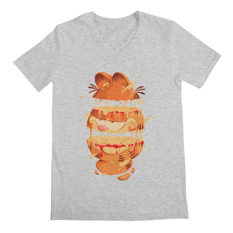 Garfield Men's Regular V-Neck by MB's Collection