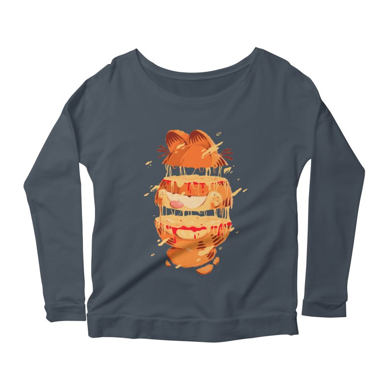 Garfield Women's Scoop Neck Longsleeve T-Shirt by MB's Collection