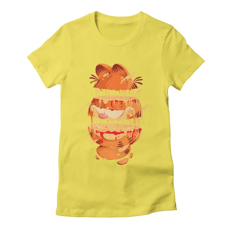 Garfield Women's Fitted T-Shirt by MB's Collection