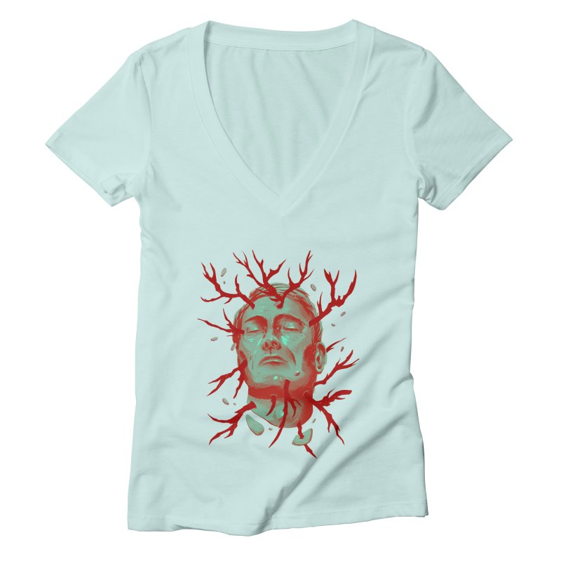 Hannibal Women's Deep V-Neck V-Neck by MB's Collection