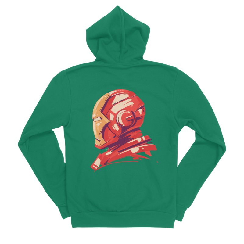 Love you 3000 // Iron Man Men's Sponge Fleece Zip-Up Hoody by MB's Collection