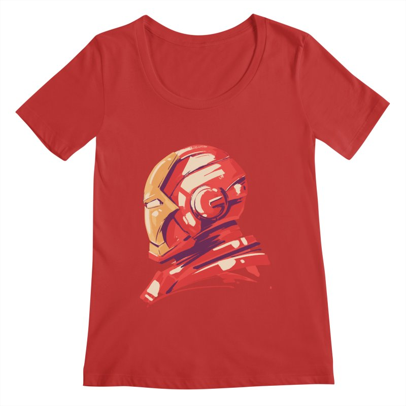 Love you 3000 // Iron Man Women's Regular Scoop Neck by MB's Collection
