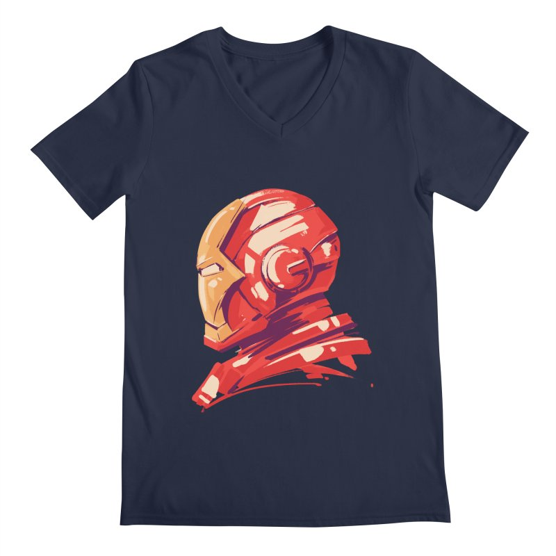 Love you 3000 // Iron Man Men's Regular V-Neck by MB's Collection