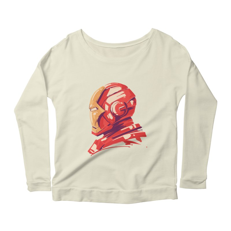 Love you 3000 // Iron Man Women's Scoop Neck Longsleeve T-Shirt by MB's Collection