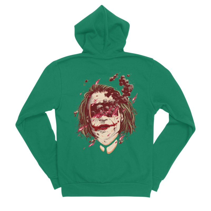 The Joker Women's Sponge Fleece Zip-Up Hoody by MB's Collection