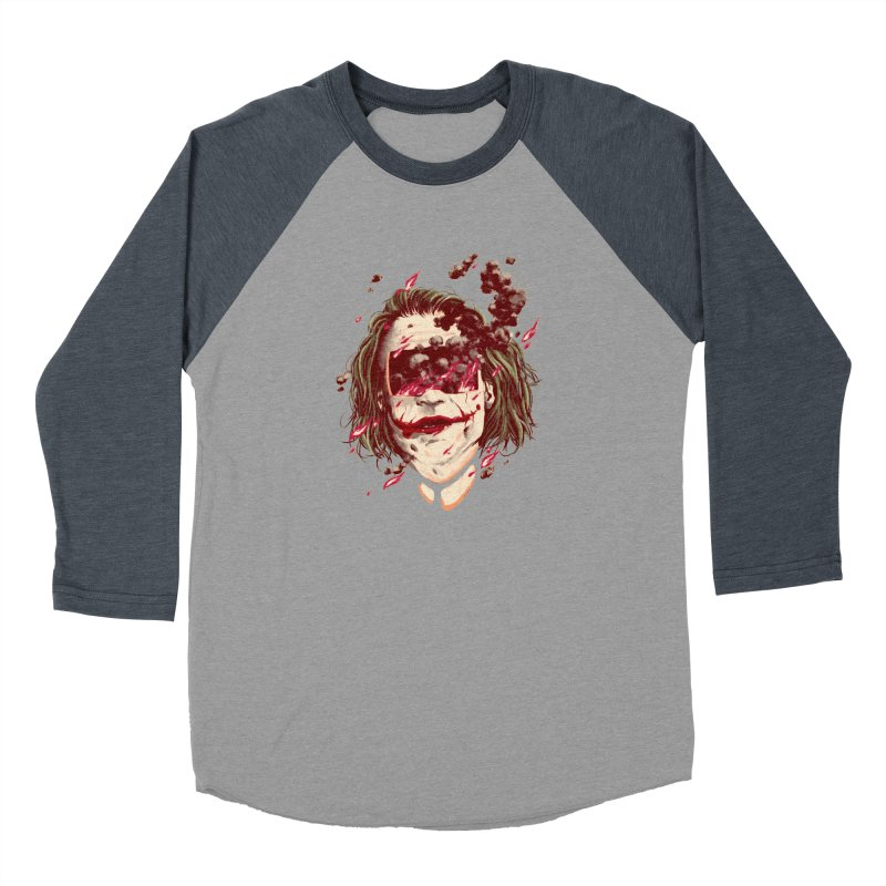 The Joker Women's Baseball Triblend Longsleeve T-Shirt by MB's Collection