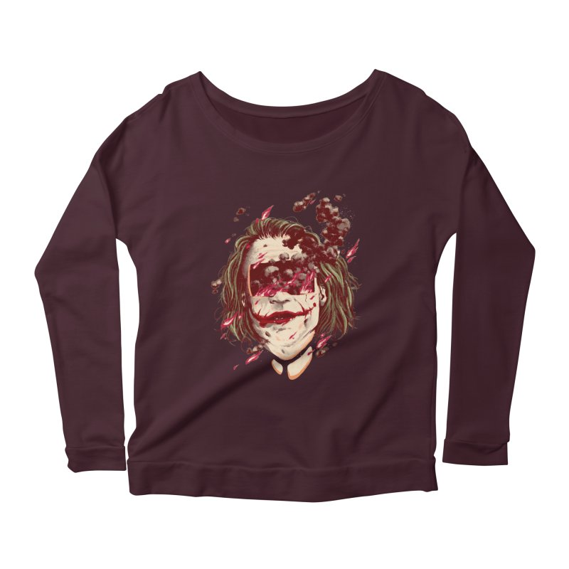 The Joker Women's Scoop Neck Longsleeve T-Shirt by MB's Collection