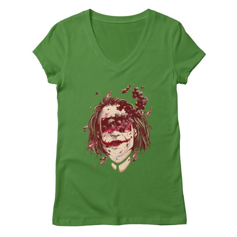 The Joker Women's Regular V-Neck by MB's Collection