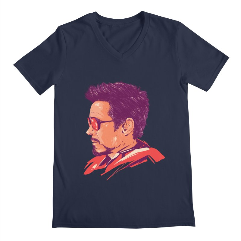Love you 3000 // Tony Stark Men's Regular V-Neck by MB's Collection