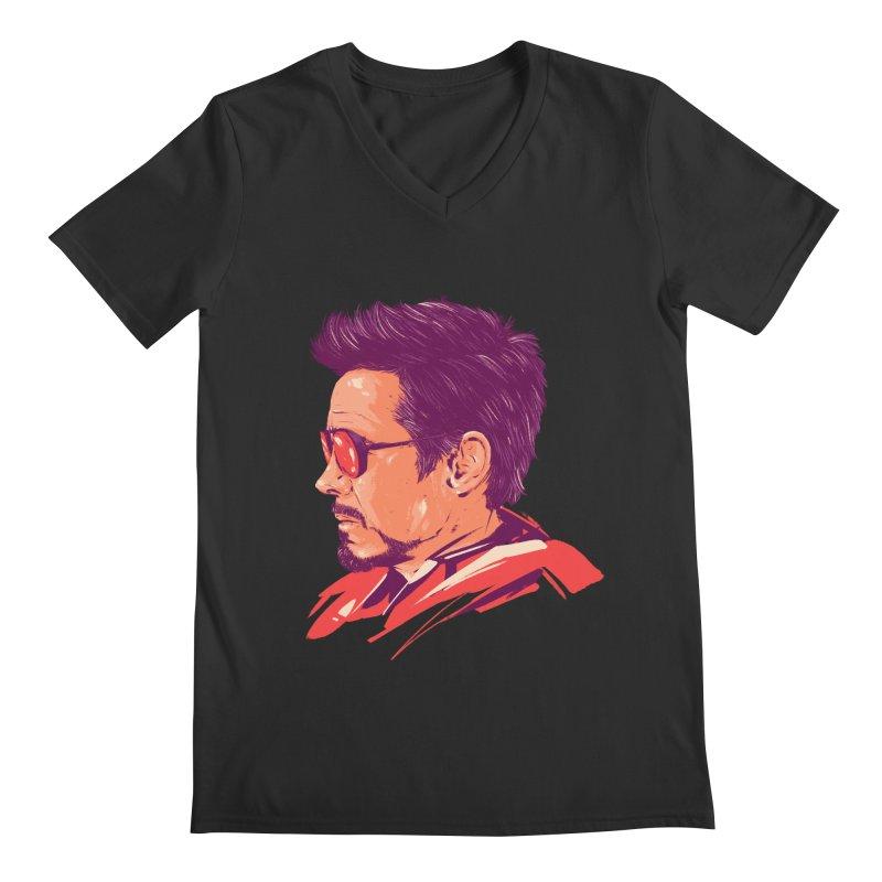 Love you 3000 // Tony Stark Men's Regular V-Neck by MB's Collection