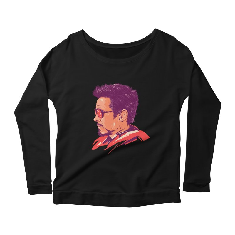 Love you 3000 // Tony Stark Women's Scoop Neck Longsleeve T-Shirt by MB's Collection