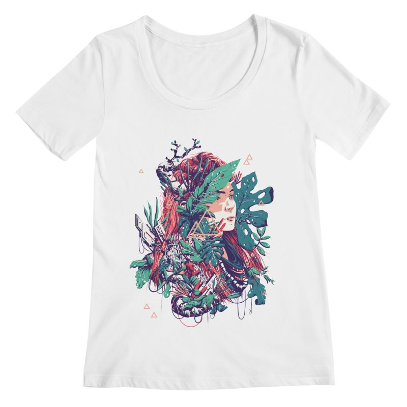 Aloy Women's Regular Scoop Neck by MB's Tees