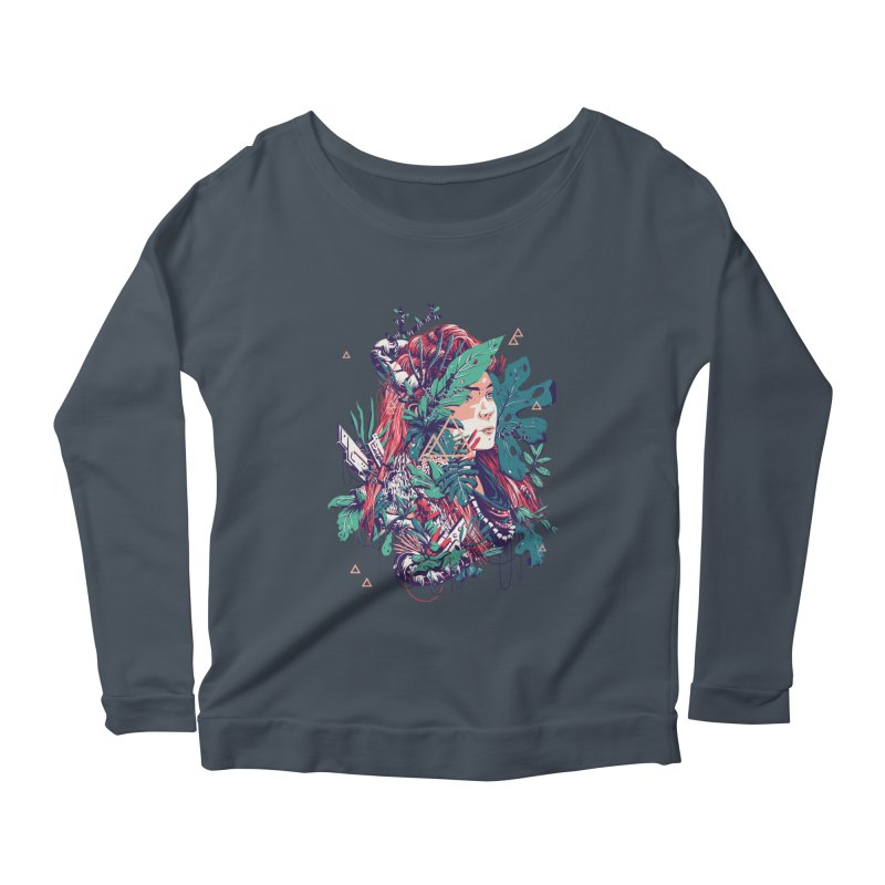 Aloy Women's Scoop Neck Longsleeve T-Shirt by MB's Collection